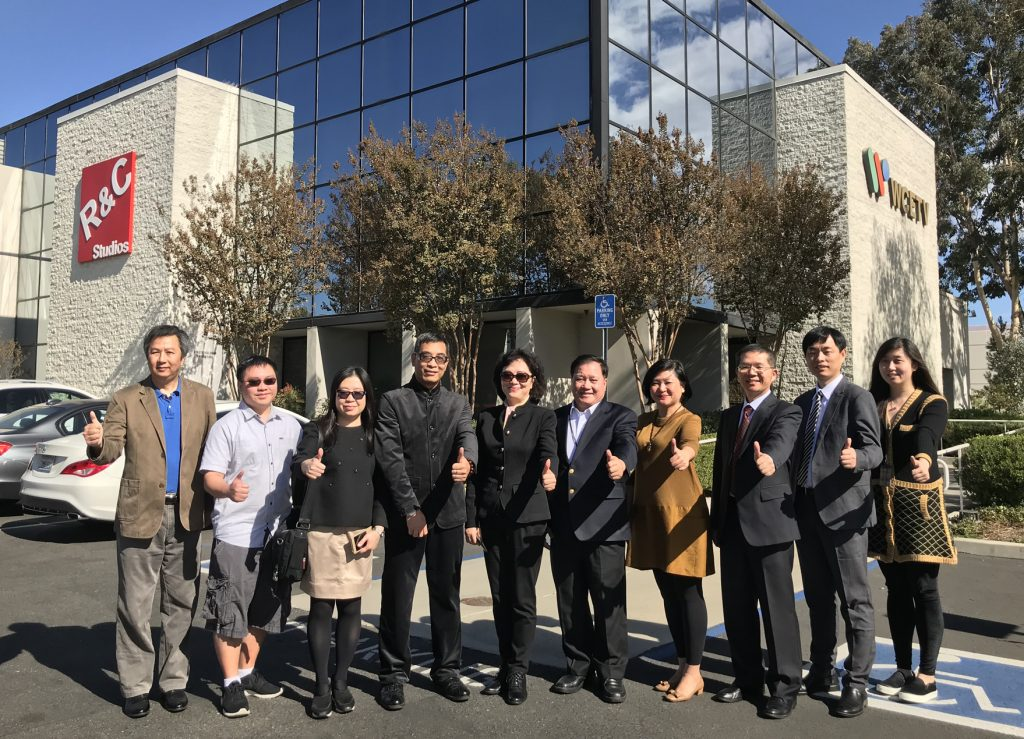 GDTV News Radio & TV Delegation Visit Chinese Media R&C Media Group Inc. Chinese Ad Los Angeles